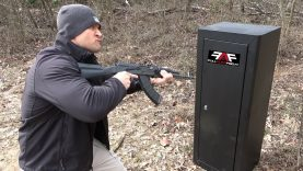 Can You Open A Security Cabinet With An AK-47??? (Full Auto Friday)