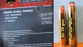 Part 2. 3/8″ AR500 steel target ? 50-110 WCF lever action
