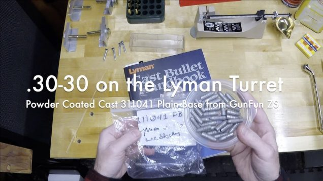 WCChapin | .30-30 on the Lyman Turret – Powder Coated Cast 311041 PB from GunFun ZS