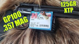 .357 Magnum Hornady 125gr XTP American Gunner Ruger GP100