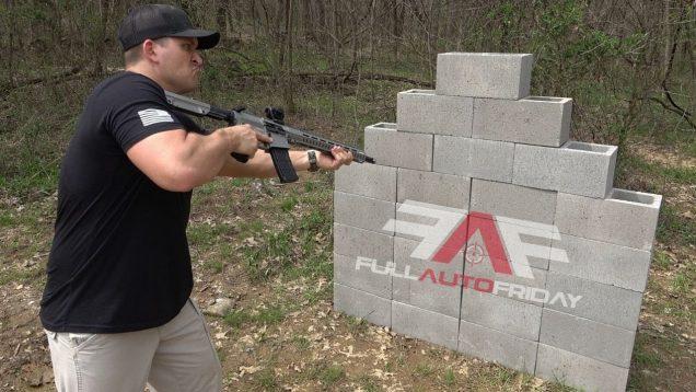Full Auto 458 SOCOM vs Cinder Block Wall ⛏ (Full Auto Friday)