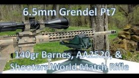 6.5mm Grendel Pt 7 140gr Barnes, AA2520, SW Match Rifle