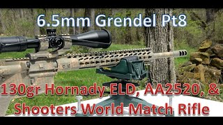 6.5mm Grendel pt 8 – 130gr ELD, AA2520, and Shooter's World Match Rifle