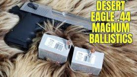 44 Magnum Desert Eagle L6 Ballistics Test with Underwood XP and 180gr JHP Review