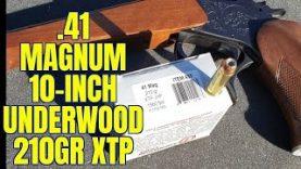 .41 Magnum 10 Inch Thompson Contender 210gr Underwood JHP