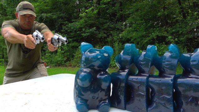 Hand Cannons vs GIANT Gummy Bears ?