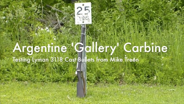 WCChapin | Argentine 'Gallery' Carbine – Testing Lyman 3118 Cast Bullets from Mike Treen