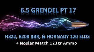 6.5 Grendel Pt17 -H322, 8208 XBR, and Hornady 120 grain ELD's