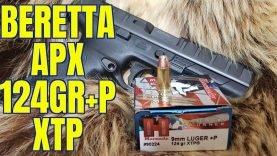 Beretta APX 124gr +P Hornady American Gunner Ballistics Review