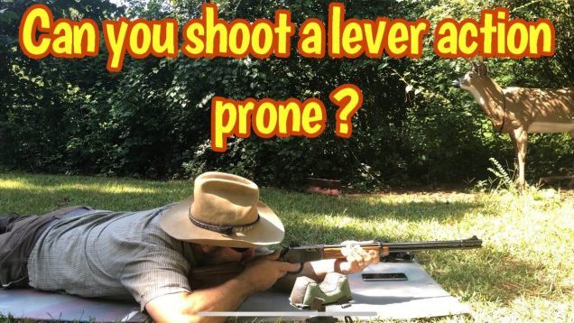 Myth or fact that lever actions can be shot from a prone position?