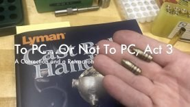 WCChapin | To PC or Not to PC, Act 3 – A Correction and a Retraction