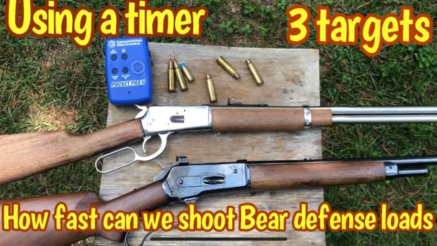 How fast can you get 3 shots on 3 different targets with a lever action?