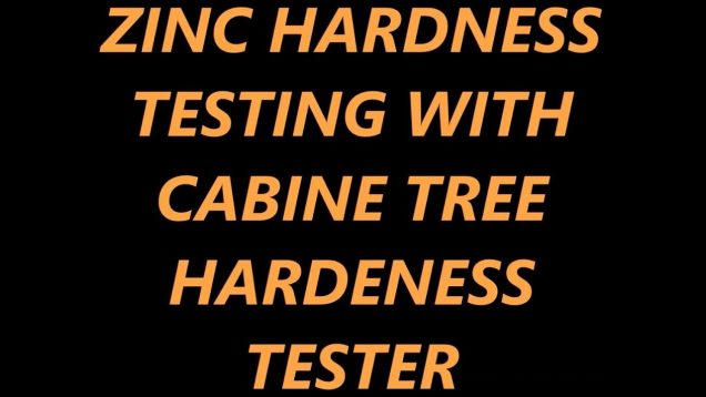 Testing Zinc Hardness With The Cabine Tree Hardness Tester