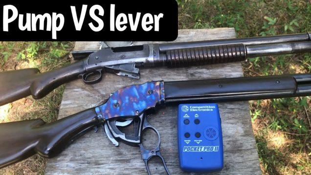 1897 Pump Action versus 1887 Lever Action Shotguns