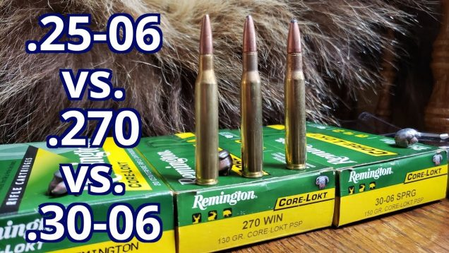.25-06 Rem vs. .270 Win vs. .30-06 Spfld Remington CoreLokt Pork and Water Jugs Test