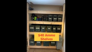 $40 Dollar Ammo Storage Shelves