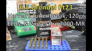 6.5mm Grendel Pt23-  Wilson Combat SS Barrel, Harrell's Tuner Brake, 20 Elds, & Power Pro 2000-MR