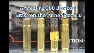 Annealing 300 BLACKOUT Brass Cases On The Annealeez 2.0