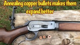 Annealing the copper bullet for the 50-110 Win helps it expand