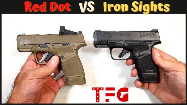 Red Dot VS Iron Sights on Pistols (Pros & Cons) – TheFirearmGuy