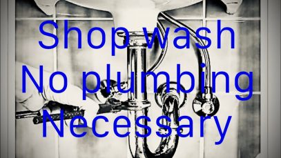 No (Plumbing) Hand wash Station!
