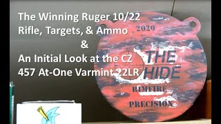 Review of the Ruger 10/22 PRS rifle, ammo, & targets plus the new CZ 457 At-One Varmint 22LR