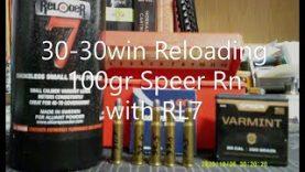 30-30win Reloading 100gr Speer Rn with RL7