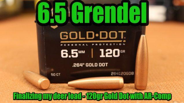 6.5 Grendel – 120gr Speer Gold Dot – 2020 Deer Load pt. 2