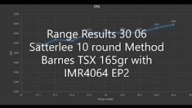 Range Results 30 06 Satterlee 10 round Method Barnes TSX 165gr with IMR4064 EP2