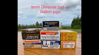 9mm Defense Ammo Test Vs Gallon Jugs