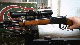 A Lever Scout Rail and Scope On Winchester 94 ae