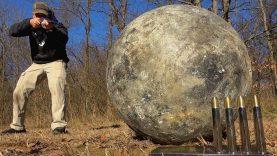 Double Barrel Elephant Rifle (500 Nitro Express) vs Atlas Stone (340 lbs!!!)