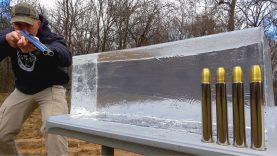 Double Barrel Elephant Rifle (500 Nitro Express) vs Ballistic Gel