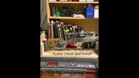 Matthew's Fabrication Kydex Cheek Rest install on 30 06