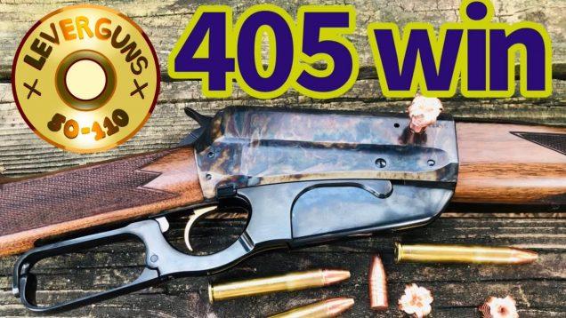Forgotten guns,1895 Winchester in caliber 405 win vs pine boards