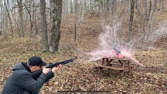 Shotgun for home defense- demonstrating how different rounds preform