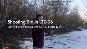 WCChapin | Shooting Six in  .30-06 – 100 Yard Winter Plinking with the 1917 Enfield Sporter