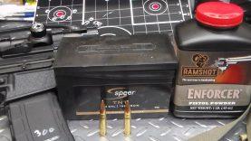 300 Blackout with 125 gr. Speer TNT bullets and Enforcer powder