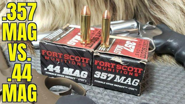 .357 Magnum vs .44 Magnum Fort Scott Tumble Upon Impact Ammunition