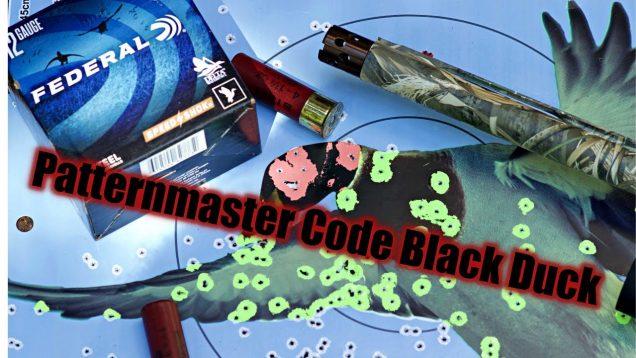 Code Black Duck Pattern Test, Federal Speed Shok, Benelli & Stoeger 12ga