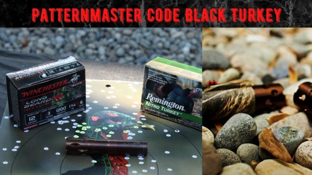 Code Black Turkey Pattern Test, Long Beard XR vs Remington Nitro, Patternmaster! Benelli M2