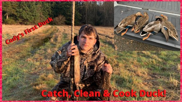Duck Hunt, catch, clean and cook. Washington Duck Hunt, Cody's first duck. Mallard