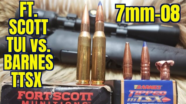 Fort Scott TUI vs. Barnes TTSX 120gr 7mm-08 Ruger Compact
