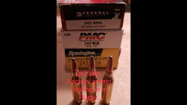 243 Win Factory Ammo testing With a Ruger M77 Mark II