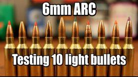 6mm ARC – Light bullet tests (58-90gr)
