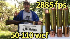 Lever action elephant rifle vs ballistic gelatin