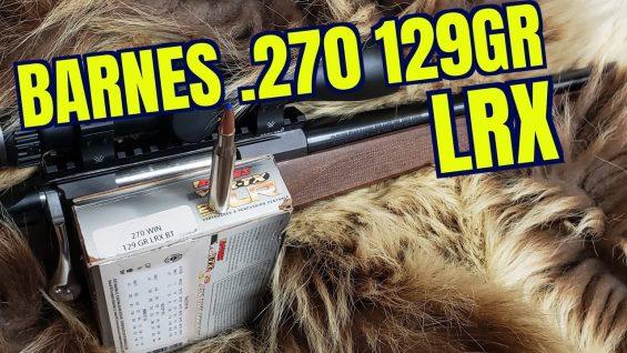 .270 Barnes LRX 129gr  Tikka T3X Forest Review