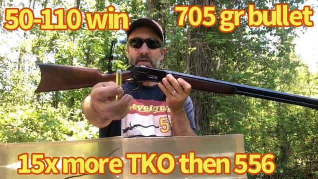 50-110 WCF 705 grain Bullet VS ballistic gelatin. Lever action elephant rifle