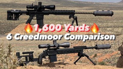 6mm Creedmoor Head To Head 1,600 Yards!