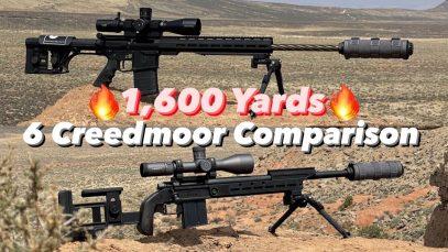 6mm Creedmoor Head To Head 1,600 Yards!